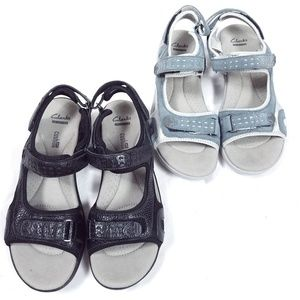 Clarks Morse Tour Soft Cushion Sandals 2 Pairs
